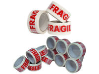 6Pc Fragile Tape Parcel Packing Packaging Sellotape Box Sealing 48MM x 66M Rolls