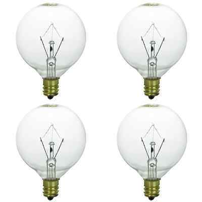 4-Pack Light Bulb for large Scentsy wax diffusers/tart warmers, 25 Watt 120 Volt