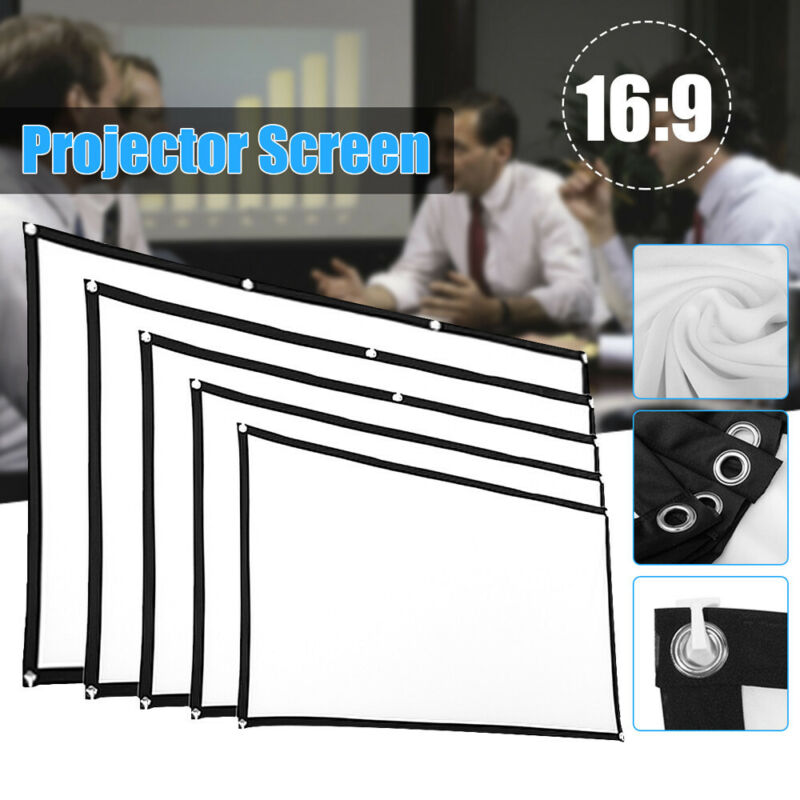 HD Projector Screen 16:9Home Cinema Theater Projection Porta