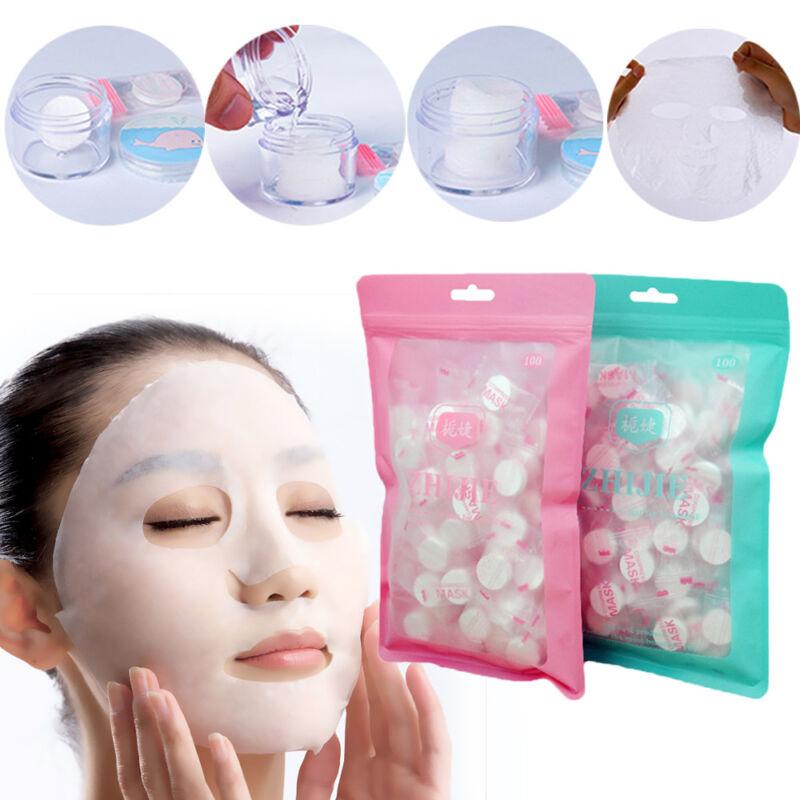 100pcs Compressed Cotton Facial Face Mask Sheet Paper DIY