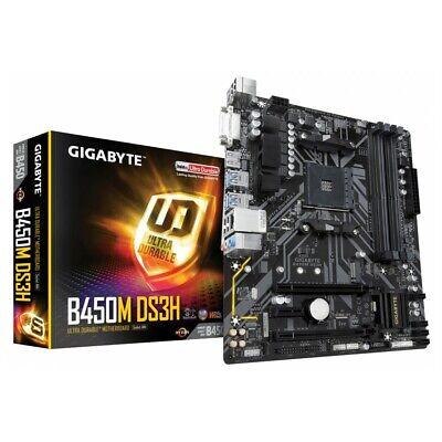 Mainboard Motherboard AMD AM4 Gigabyte B450M DS3H USB 3.0 HDMI Gigabit Ethernet