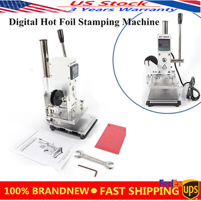 Hot Foil Stamping Machine Leather Printer Bronzing Pvc Card 100130mm 0-350 New