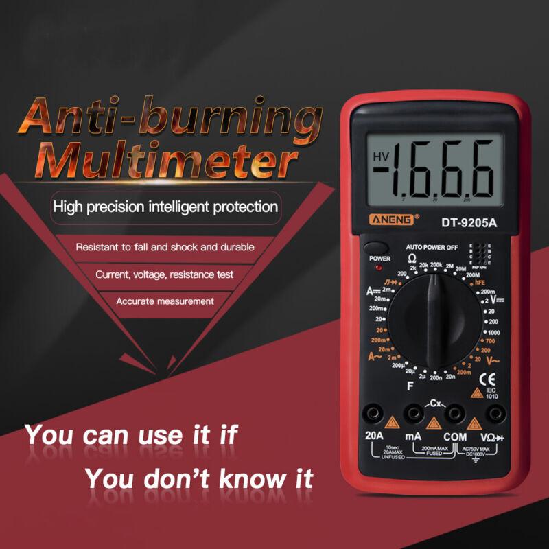 Digital Multimeter Auto Range Meter AC DC Ammeter Voltmeter Ohmmeter LCD Tester