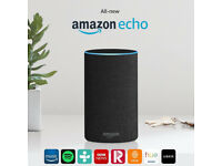 Amazon Echo (2nd generation) - Charcoal Fabric - BRAND NEW SEALED.
