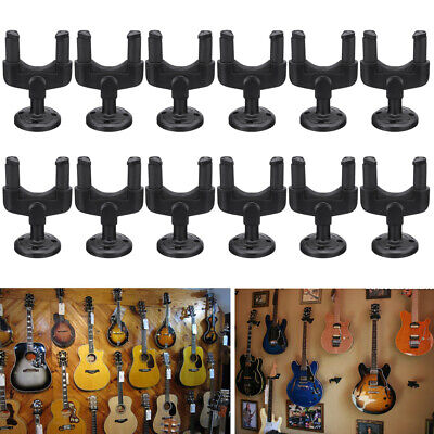 12pcs Guitar Wall Mount Hanger Stand Holder Hooks Display Acoustic Electric Bass
