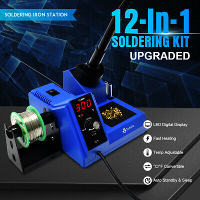 Digital Led Display Rework Soldering Station Kit Adjustable Temperature 110v 80w