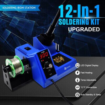 Digital Led Display Rework Soldering Station Kit Adjustable Temperature 110v 80w