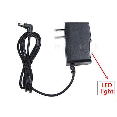 7.5V 2A AC/DC Wall Power Supply Adapter Charger Cord 2.5mm x 5.5mm Tip Center +