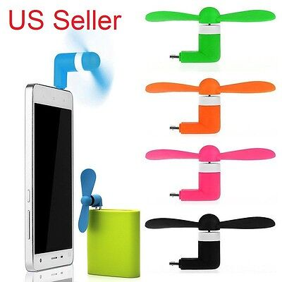 Portable Cute Electric Fan Cooling Cooler Cell Phone For Iphone 8 7 6 6S Plus SE