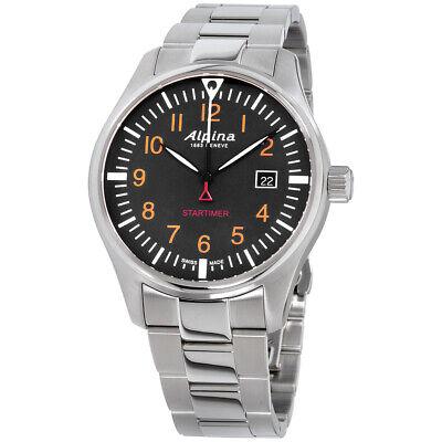 Alpina Startimer Pilot Quartz Movement Black Dial Men's Watch AL-240N4S6B