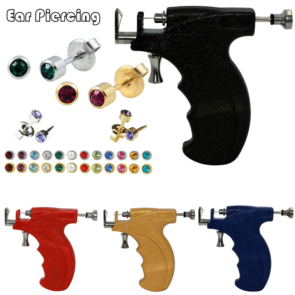 как выглядит Ear Piercing Gun Instrument Starter Kit Ear Body Piercing Tool Stud Earring фото