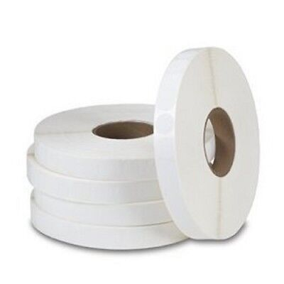 Wafer Seal 1 Inch Round Horizontal White Circle Label 5000 Tabs Per Roll