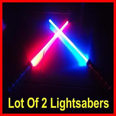 LOT OF 2 Lightsaber Star Wars FX Sound Force Light Saber Sword Toy Blade NEW