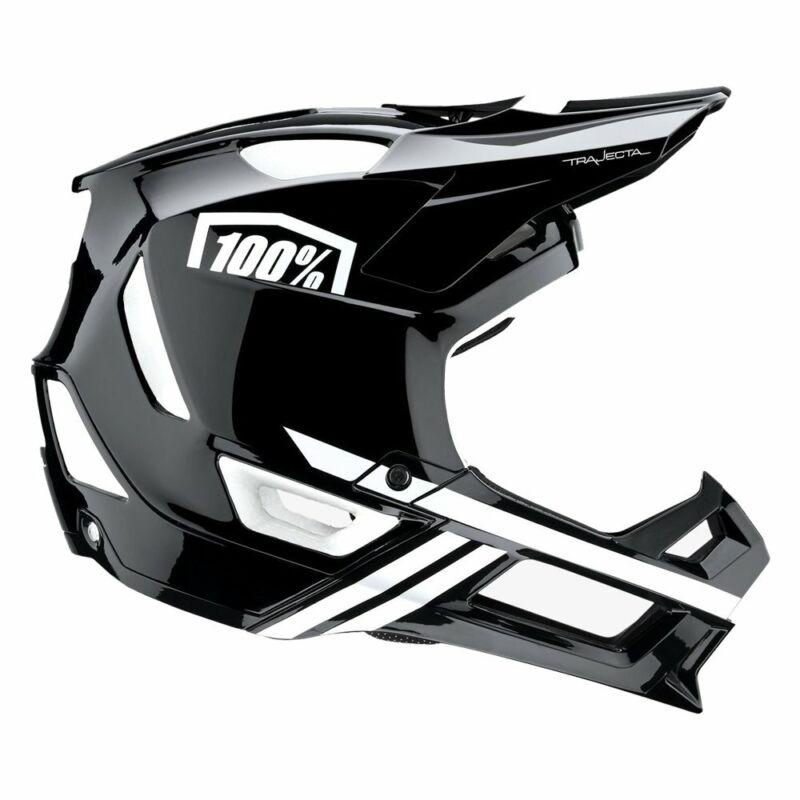 100% Trajecta Full-Face Helmet: Black/White SM