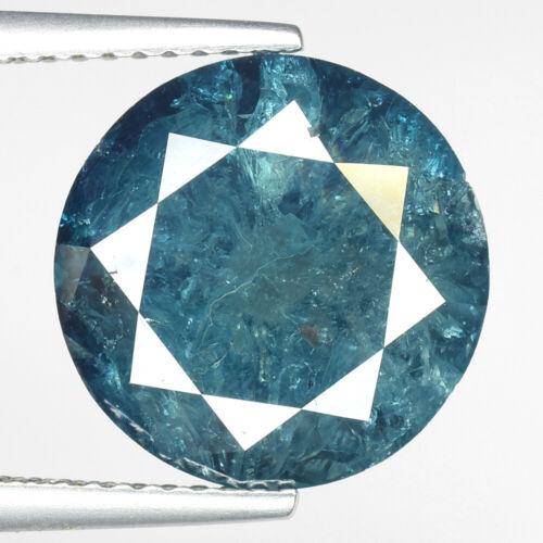 "HUGE! 8.12cts 20.3mm Aqua Blue Natural Loose Diamond ""SEE VIDEO"""