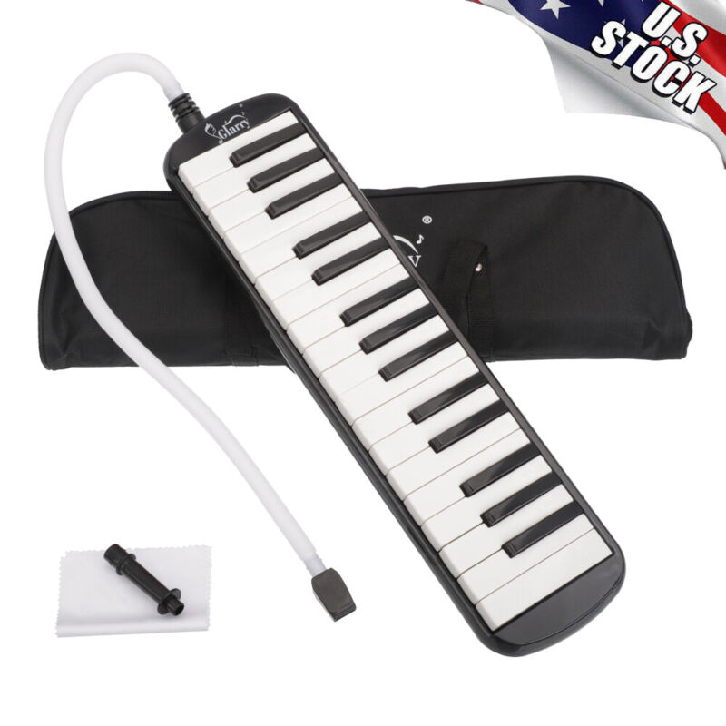 Glarry 32-Key Melodica Musical Instrument for Beginners with Mouthpiece/Hose/Bag