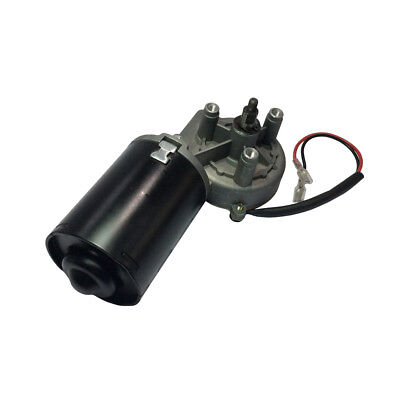 Dc 24v 50rpm Worm Geared Motor Reversible Right Angle High Torque 60kg.cm