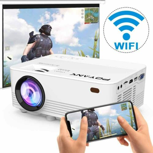 Wireless WiFi 5500 Lumens Full HD Portable Home Movie Video LED Projector HDMI