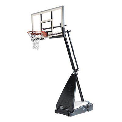 Spalding 60 In  Acrylic Portable Ultimate Hybrid Base Basketball System  Black
