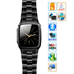 1.6'' Touch Stainless Steel Wrist Watch Mobile Phone Bluetooth Camera MP3 TW810