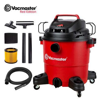 Vacmaster 9 Gallon Wet Dry Car Shop Vacuum Carpet Cleaners 4 Peak Hp Red