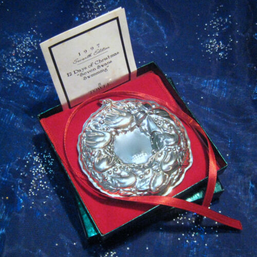 NEW• Towle 1997 SEVEN SWANS A SWIMMING Wreath 12 Day Sterling Christmas Ornament
