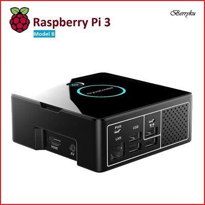 DIY Pi Desktop Computer Case w/ Berryku Fan Kit - Raspberry Pi 3/2 (Case Only)