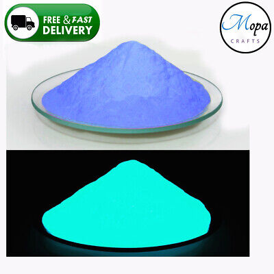 Blue Neon Glow in the Dark Pigment Powder for Paint,Nail,Art,Crafts,Acrylic (Blue Glow In The Dark)