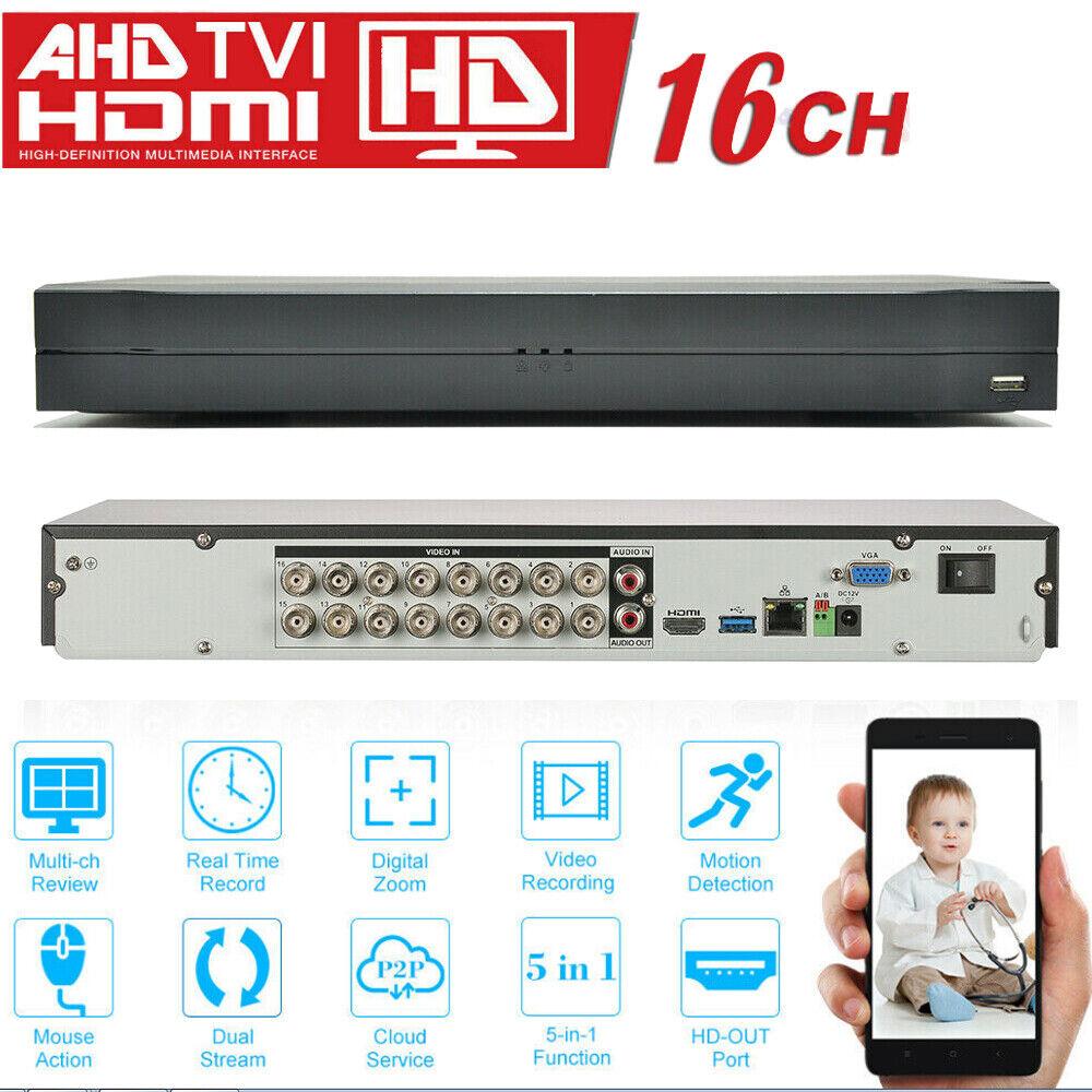16 Channel 4K H.265+ Digital Video Recorder 1080P DVR for Se