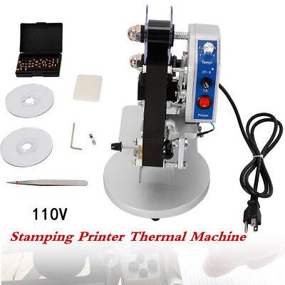 110v Manual Stamping Printer Hot Foil Code Thermal Printing Machine Ribbon Date