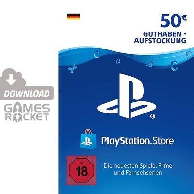 50€ PSN DE Playstation Network Code Card 50 Euro € EUR | PS4, PS3, Vita Guthaben