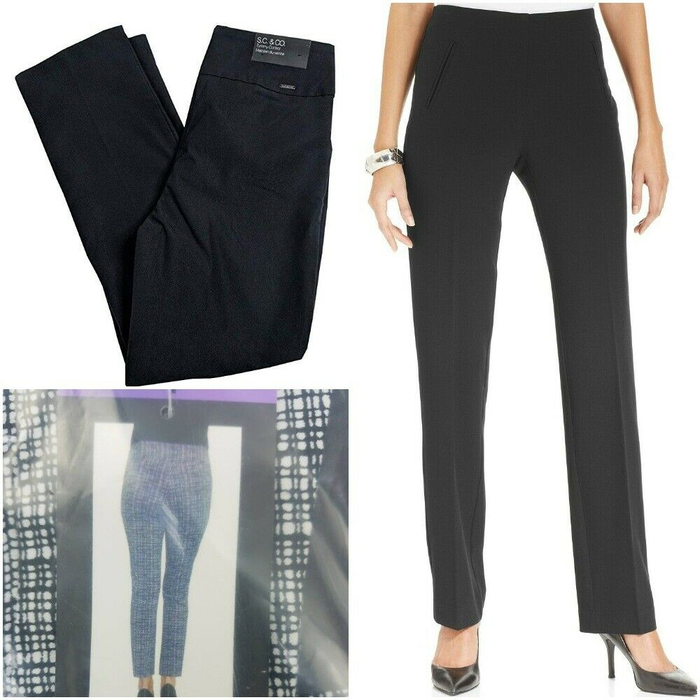Style Co Women's Tummy-Control Pull-On Straight Leg Pants Pi