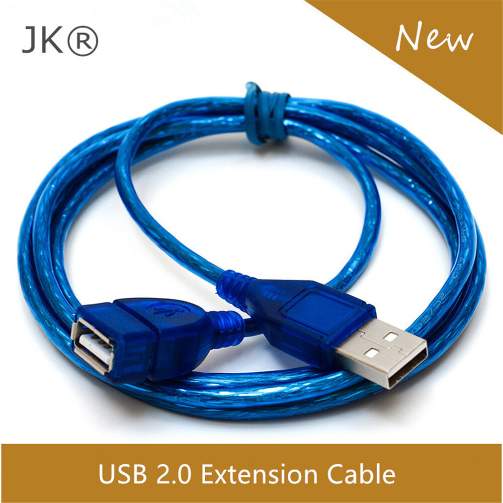 1m 1.5m 2m 3m USB2.0 Extension Cable Extender Lead A Male to Female Cord Adapter