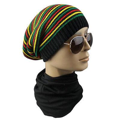 New Rasta Reggae Bob Marley Hat Rastafari Africa Dredlocks Tam Root Dread Cap (Bob Marley Hat)