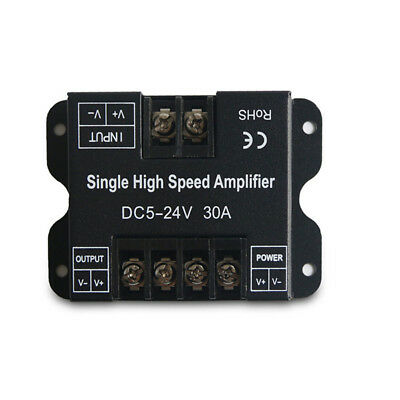 30a Single - 30A Led Amplifier Power Signal Repeater for Single Color LED Strip 5-24V 720W