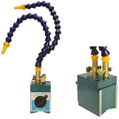 Coolant Flexible Magnetic Base Hoses Holder 110 Lb W/ 2 Flexible Coolant Nozzles
