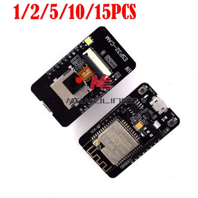 1-15pcs Esp32-cam Ch340 Wifi Bluetooth Development Board Ov2640 Camera Module