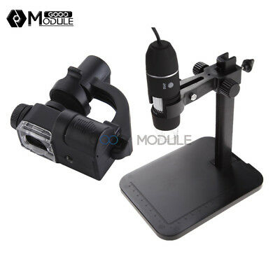 Usb 1000x Digital Microscope 2mp 8 Led Endoscope 90x Magnifier Cameralift Stand