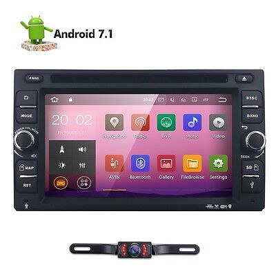 Universal 2DIN Android 7.1 2GB RAM Car in Dash DVD Player Stereo GPS Rear Camera