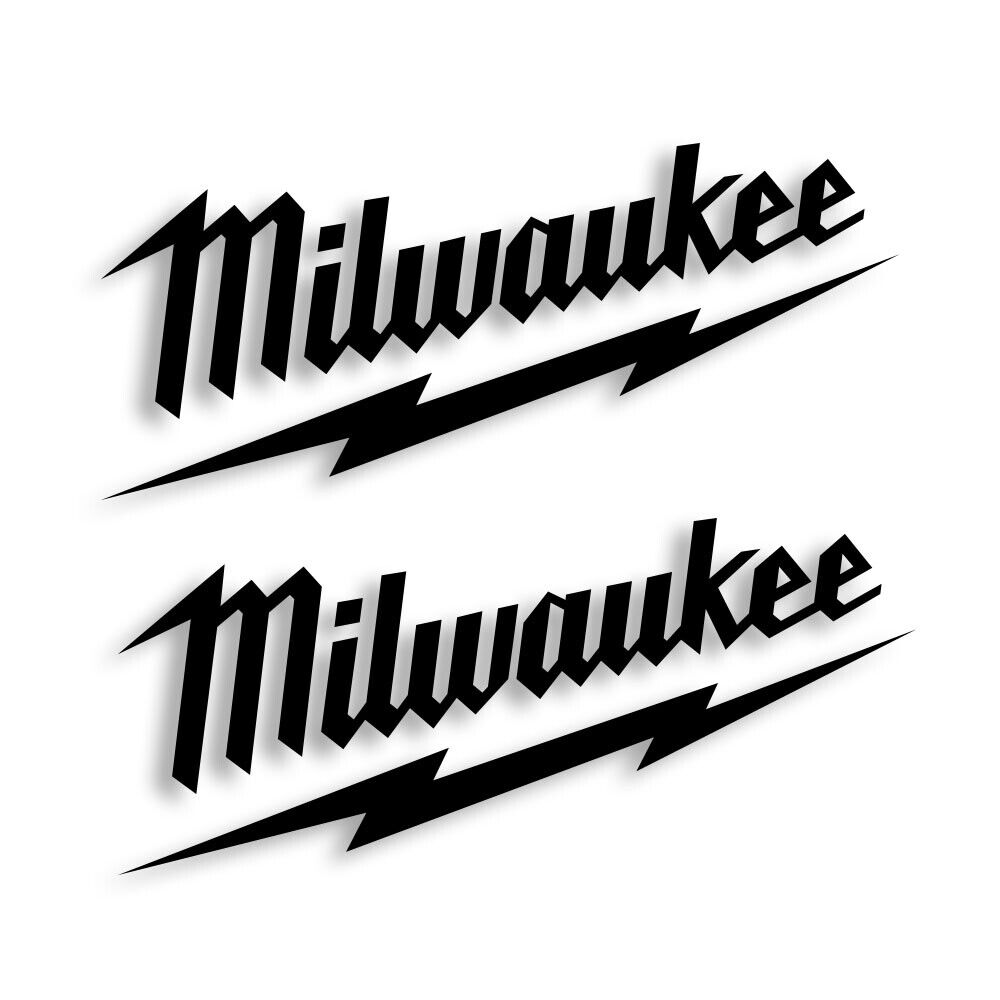 Home Decoration - Milwaukee Tools Vinyl Decal Sticker Set of 2 Free Shipping