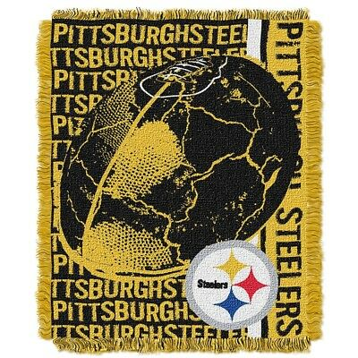 Pittsburgh Steelers NFL Triple Woven Double Play Jacquard Knit Throw Blanket
