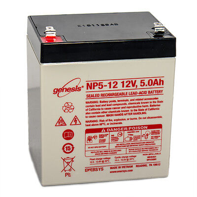 Enersys Genesis 12V 5Ah Sla Battery Replacement For Np4 12