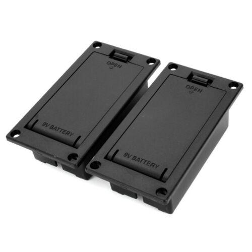 2pcs 9V Battery Cover Case Box Holder For Active Guitar Bass Pickup