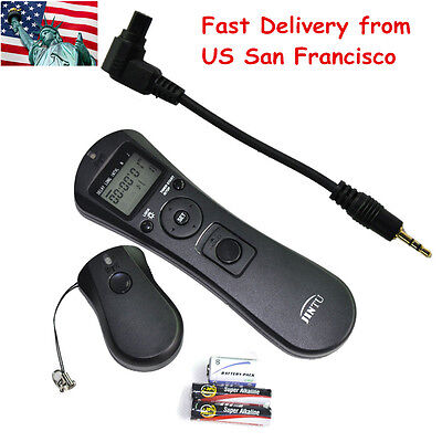 Jintu Intervalometer Timer Lapse Wireless Remote for CANON 7D II 6D 1Ds 1D 5D US
