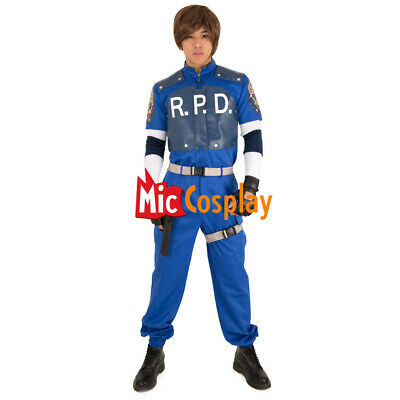 Resident Evil 2 Leon S. Kennedy R.P.D Cosplay Costume Men Halloween Party Outfit