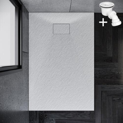 SMC Duschwanne Duschtasse 120x90cm Rechteckig mit Ablaufgarnitur Weiß Rutschfest