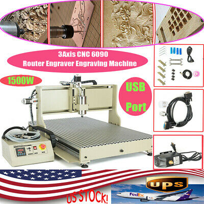 Usb 1.5kw 3axis Cnc 6090 Router Engraver Woodworking Advertising Milling Machine