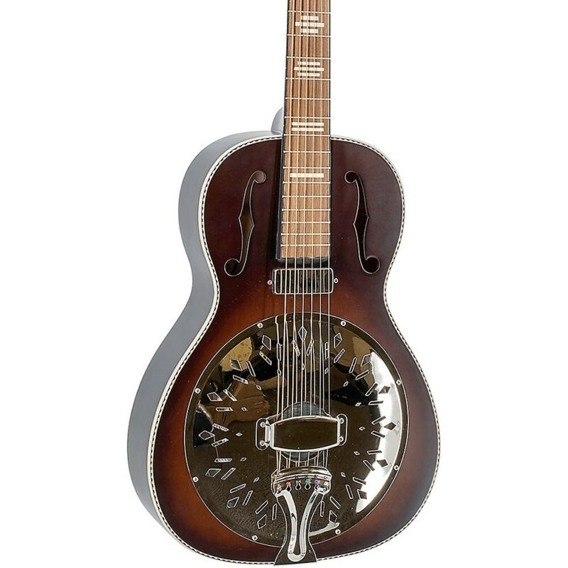 Recording King RPH-R2-E Dirty 30s Resonator Guitar w/Mini-Humbucker Brown Burst