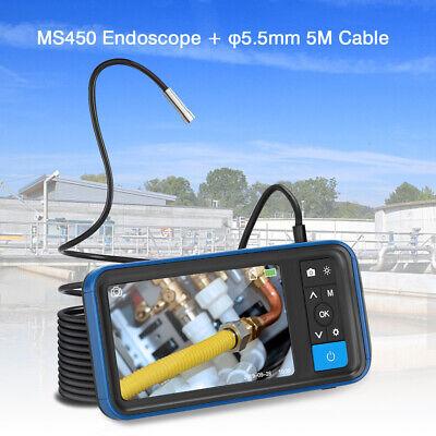 "MS450 φ5.5mm 5M 4.5"" 1080P Waterproof Industrial Borescope Video Camera w/ 32G"