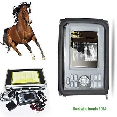 Veterinary Portable Ultrasound Scanner Machine Vet Rectal Probe Free Box Usa